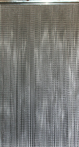Lynx Aluminum Chain Beaded Curtain - Black - 3 ft x 6 ft