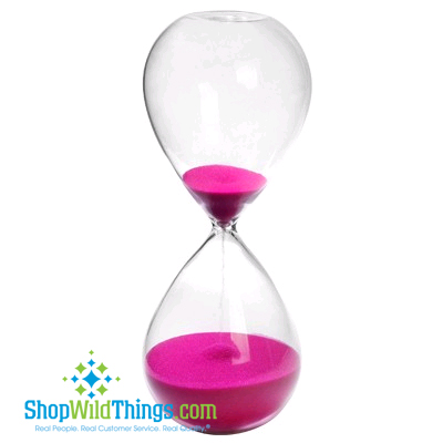 "Hourglass 8"" - Rose Pink Sand"