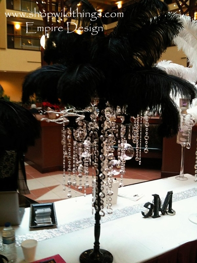 Tall Black Candelabra With Crystal Beads Crystal Table