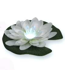 White LilyLytes - Lily Light LED Floating Lilies (Pick Other Colors Too!)