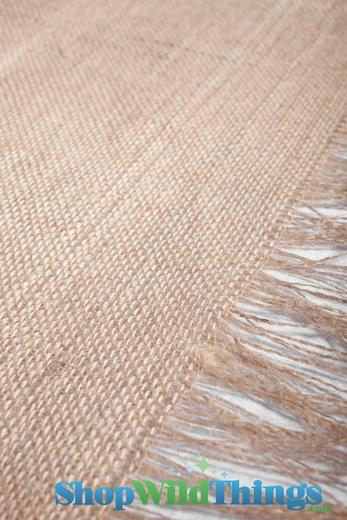 "Runner Jute Fringed - Natural 20x90"" - Tight Weave, Highest Quality"