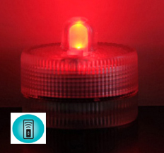 Acolyte Sumix 1 - Red - Set of 10 - Submersible Remote Control Compatible LED Light