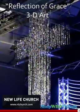 VIDEO: New Life Church - 3D Art by VisualSpicer - Using PVC Beaded Curtains