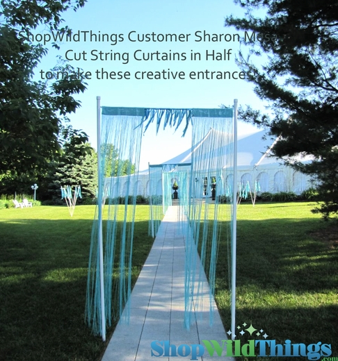 "String Curtain Aqua 18 Strings Per Inch! - 36""  x 88"""