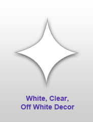 White, Clear, Crystal Decor
