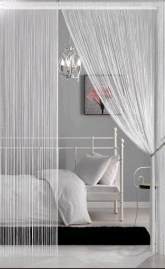 String Curtains 18 strings Per Inch<BR><B> - 64 Colors & Sizes Available!</B>