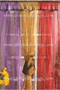 Curtains Sheer Shiny Organza 15 Colors! $14.99