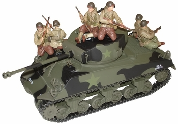 M4 Sherman Tank Model with Figures, US Army - Corgi US51026 - click to enlarge