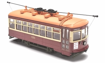 Birney Safety Car Trolley Model, Brooklyn, NY - Corgi US55208 - click to enlarge