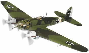 He 111 Model, Luftwaffe, KG 26, Italy, 1942 - Corgi AA33712 - click to enlarge