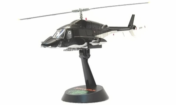 Airwolf Helicopter (Matte Black) - Aoshima 1:48 Diecast Model - click to enlarge