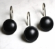 Black Color Rounds Shower Curtain Rings/Hooks