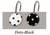 Black and White Polka Dots Rings/Hooks