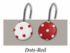 Red Polka Dot Rings/Hooks