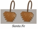 Santa Fe Southwestern Shower Curtain Rings/Hooks