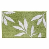 Leaves Bath Rug (Green and White)