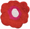 Poppy Flower Bath Rug (Red)