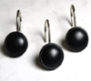 Black Color Rounds Rings/Hooks