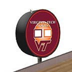 Virginia Tech Hokies Shuffleboard Table Scoreboard