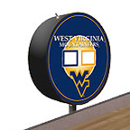 West Virginia Mountaineers Shuffleboard Table Scoreboard