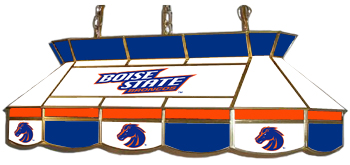 Boise State Broncos 7905 Series MVP Stained Glass Pool Table Light