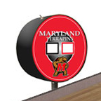 Maryland Terrapins Shuffleboard Table Scoreboard