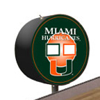 Miami Hurricanes Shuffleboard Table Scoreboard