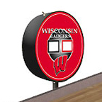 Wisconsin Badgers Shuffleboard Table Scoreboard