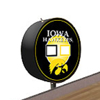 Iowa Hawkeyes Shuffleboard Table Scoreboard