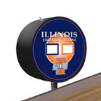 Illinois Fighting Illini Shuffleboard Table Scoreboard