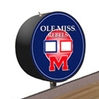 Ole Miss Rebels Shuffleboard Table Scoreboard