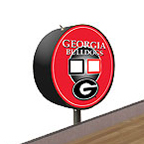 Georgia Bulldogs Shuffleboard Table Scoreboard