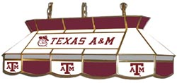 Texas A&M Aggies 7905 Series MVP Stained Glass Pool Table Light