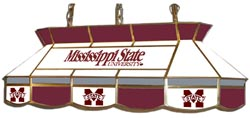 Mississippi State Bulldogs 7905 Series MVP Stained Glass Pool Table Light