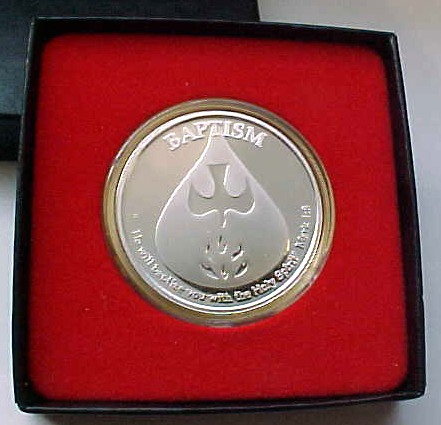 lutheran medallion thrivent medallions church baptismal baptism on of given jan