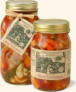 Hot 'n Spicy Mixed Vegetables Jar 32 oz.