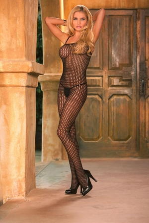 Lycra Crochet Bodystocking * 1614Q