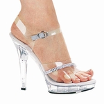 "5"" Clear Rhinestone Heels * M-JEWEL"