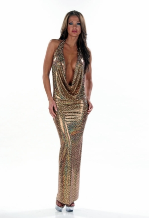 Stretch Hologram Gown * 4419