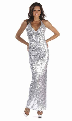 Stretch Sequin Gown  * 4903
