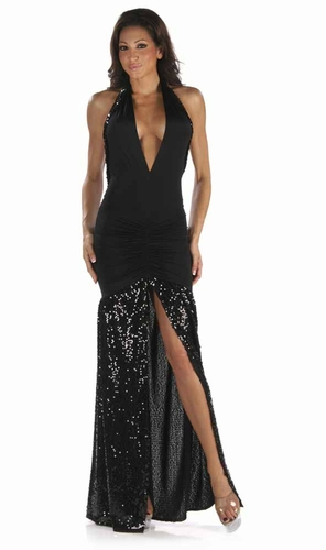 Stretch Sequin Gown * 4913