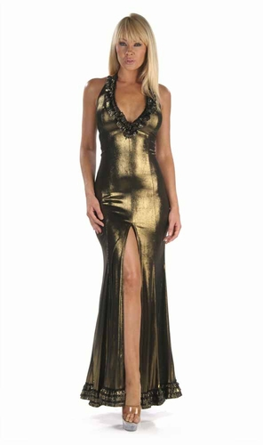 Stretch Shimmer Gown * 4918