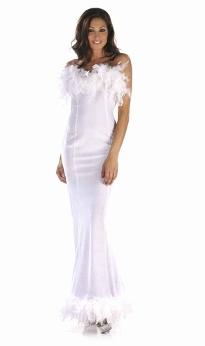 Velvet/Feathers Gown * 4922