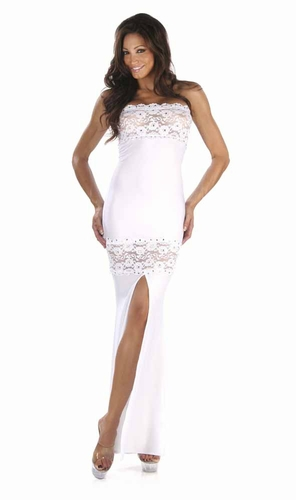 Lace/Rhinestones Gown * 4934