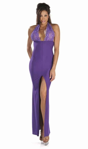 Lace/Rhinestones Gown * 4935