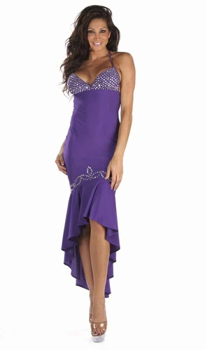 Poly/Rhinestones Gown * 4939