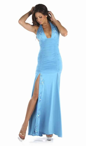 Glossy Poly/Applique Gown * 4960