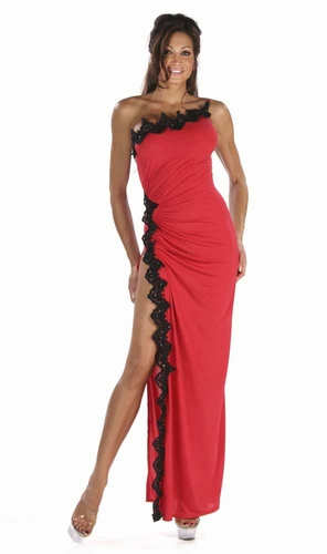 Poly/Sequin Lace Gown * 4965