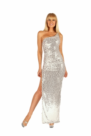 Stretch Sequined Gown * 5507