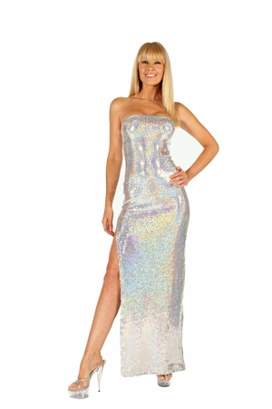 Stretch Sequined Gown * 5521